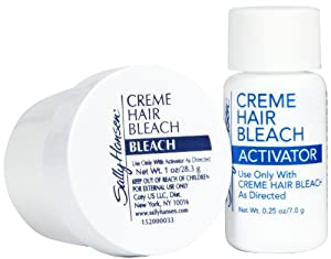 Says bleaching products for facial hair suck and