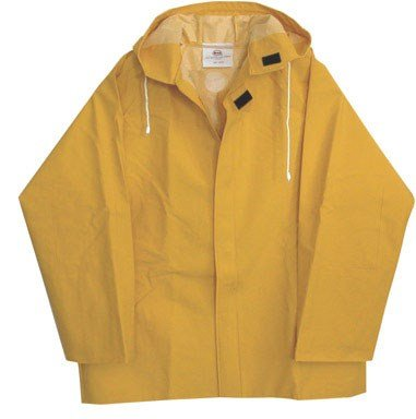 Boss Rainjacket With Hood Large 50 Mil Yellow front-533516