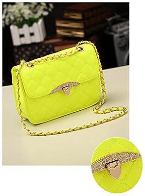 Abody Fashion Elegant Women Girl Bag PU Leather Plaid Quilted Handbag Chain Messenger Shoulder Bag