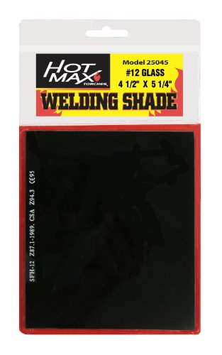 Hot Max 25045 #12 Helmet Shade 4 1/2-Inch by 5 1/4-Inch Welding Helmet Replacement Lens