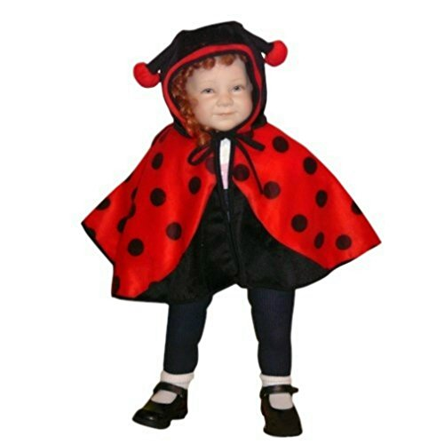 [Fantasy World Boys/Girls Ladybug Ladybird Halloween Cape Costume, One Size, An38] (Toddler Frog Prince Halloween Costume)