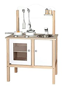 Viga Kitchen Noble Wooden Toy (White)