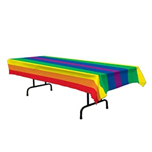 Rainbow Tablecover Party Accessory (1 count) (1/Pkg)