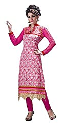 Ceremonial wear semistitched embroided dress material