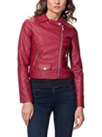 OSLEY PARIS Chaqueta Biker With Pocket Detail (Burdeos)