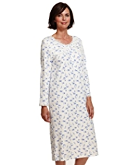 Pure Cotton Floral Nightdress