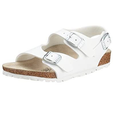 Birkenstock Roma, Unisex-Child Sandals, White, 1 UK (32 EU)