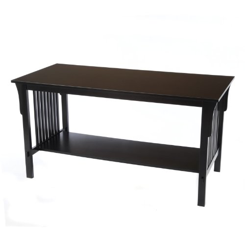 Buy low price bay shore collection mission coffee table for Buy black coffee table