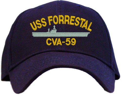 USS Forrestal CVA-59 Embroidered Baseball Cap - Navy