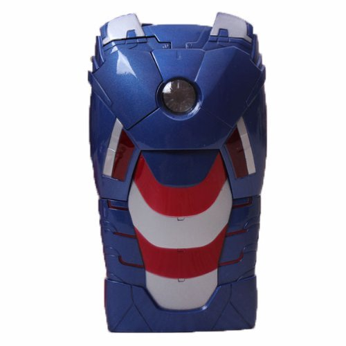 Hjx Blue Iphone 5 New Fashion Cute 3D Avengers Iron Man Case Iron Man Mark Vii Led Light Reflector For Apple Iphone 5 5G 5Th