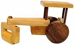 Desi Karigar Beautiful Wooden Classical Road Roller Toy Showpiece