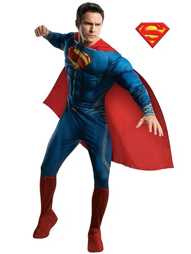Rubies Costume Co R887157-M Mens Deluxe Superman Man Of Steel Costume Size Large
