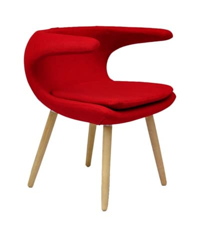 International Design USA Clipper Chair, Red