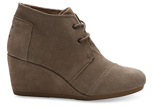 Toms Desert Wedge Taupe Suede Boot 10006257 Womens 7
