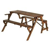 Big Sale Folding Convertible Outdoor Bench Garden Picnic Table