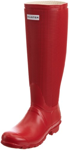 Hunter Women's Carnaby Fringe Pillar Box Red Wellington Boot W24366 7 UK