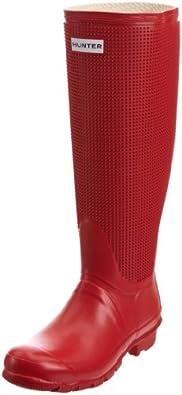 Hunter Women's Carnaby Fringe Pillar Box Red Wellington Boot W24366 5 UK