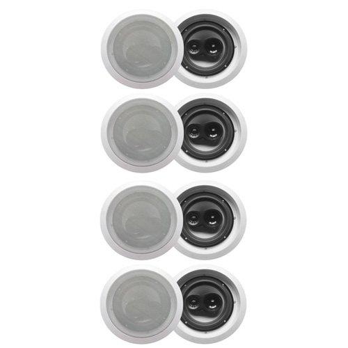 """Acoustic Audio Cs-Ic83-4Pr 350 Watt 8"""" 3-Way Home Theater In-Wall/Ceiling Speakers (4-Pair)"""