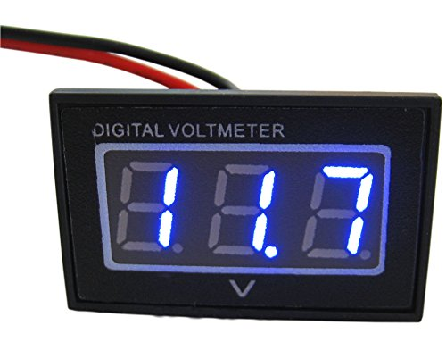 Vehicle Installed Digital Measuring Instruments : Yeeco blue led wires digital voltmeter dc v volt