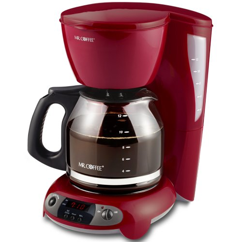 Cheap Cup Coffee Makers: Mr. Coffee TFX26 12-Cup Programmable Coffeemaker, Red