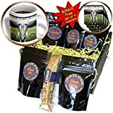 Perkins Designs Surreal - Music Makes Me Smile surreal happy music man with text and a set of speakers - Coffee Gift Baskets - Coffee Gift Basket