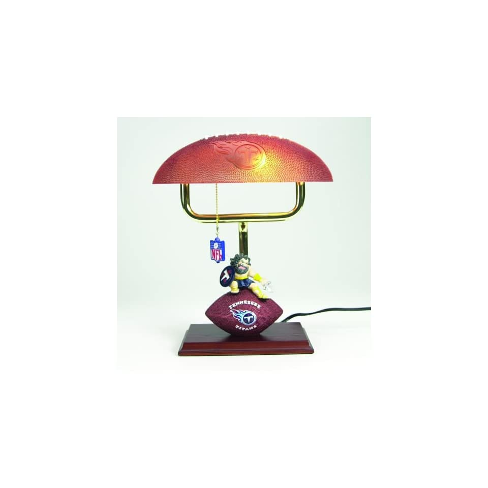 14 NFL Tennessee Titans Football & Mascot Office Desk Lamp