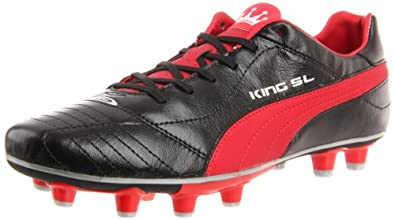 Puma Men's King Finale SL I FG Soccer Shoe,Black/Rosso Corsa/Puma Silver,7 D US