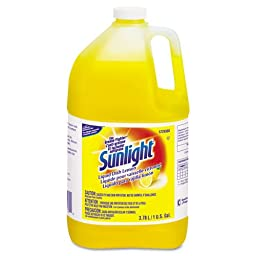 Sunlight Liquid Dish Detergent, Lemon, 1 gal Bottle - four one-gallon bottles.