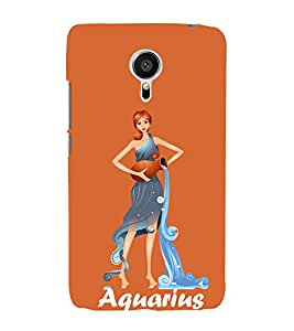 Aquarius 3D Hard Polycarbonate Designer Back Case Cover for Meizu MX5