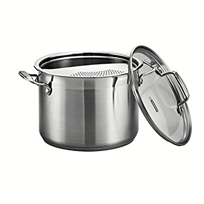 Tramontina 80120/200DS 3-Piece Tramontina Gourmet Stainless Steel Pasta Cooker, 6-Quart