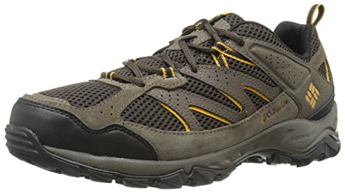 Columbia Men's Plains Ridge Trail Shoe, Cordovan/Squash, 10 D US