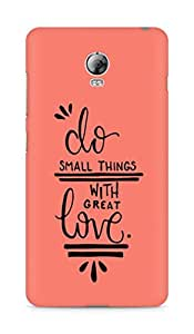 AMEZ do great things with love Back Cover For Lenovo Vibe P1
