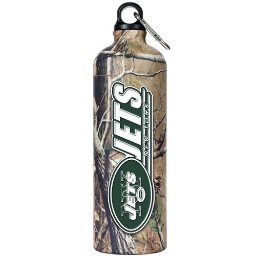 NFL New York Jets 32-Ounce Open Field Aluminum Water Bottle at Amazon.com
