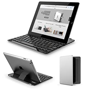 Anker® TC940 Ultra-Thin Keyboard Case / Cover for iPad 4 / 3 / 2 - Smart Cover and Built-in 800mAh Lithium Battery