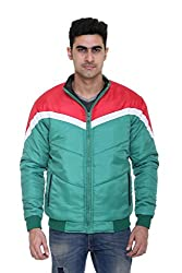 Full-Sleeves Quilted Jacket for Men by COLORS & BLENDS - Green - L size