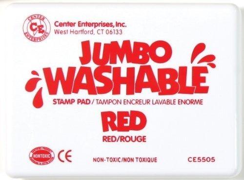 Center Enterprise CE5505 Jumbo Washable Stamp Pad, Red