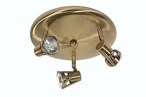 Oaks Lighting Romore 3-Light Ceiling Spot Light, Antique Brass from Oaks Lighting