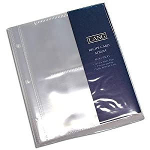 Lang Recipe Card Album - Refill Pages Open Sleeves