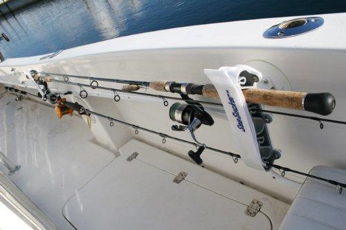 Seasucker vacuum mounted marine horizontal fishing rod for Horizontal fishing rod holders