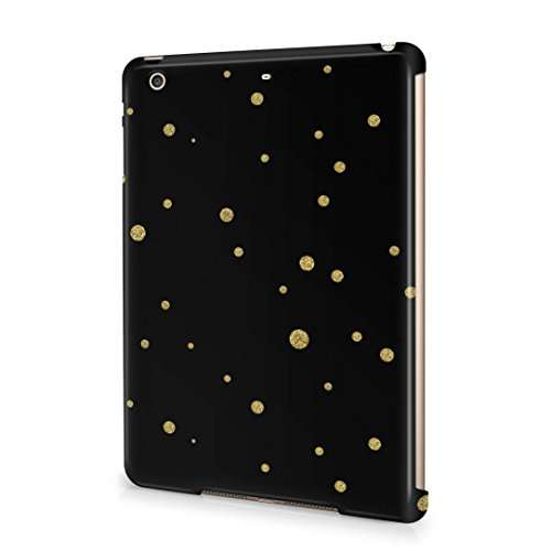 Golden Splatter Dots Pattern Apple iPad Mini 2 / 3 Snap-On Hard Plastic Protective Shell Case Cover