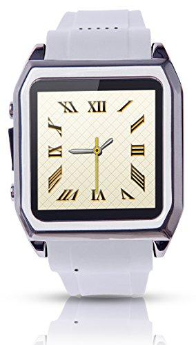 Scinex® SW30 16GB Bluetooth Smart Watch GSM Phone - US Warranty (Silver/White)