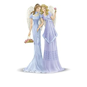 Thomas Kinkade 'Sisterly Love Angels' Figurine By The Bradford Exchange