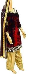 Shree Fashion Women's Velvet Unstitched Dress Materials [D60]
