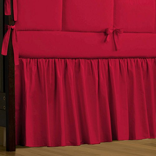 Solid Red Crib Bedding front-1029813