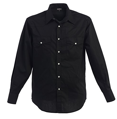 Western pearl snap shirts for men for Mens shirts with snaps instead of buttons