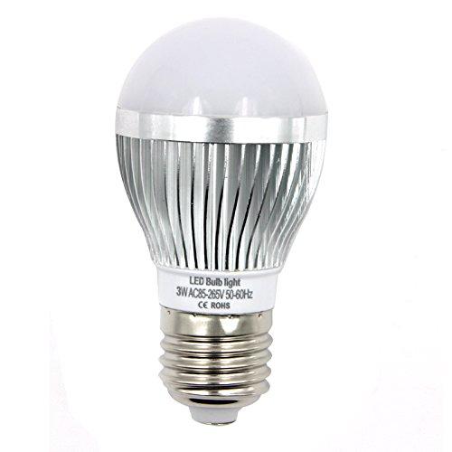 OUBO E14 E27 GU10 MR16 3W 4W 5W 7W LED Lampe Bulb Strahler Spot Kerze Leuchtmittel Glühbirne Birne Warmweiß Kaltweiß Top-Qualität (3W E27 Kaltweiß)