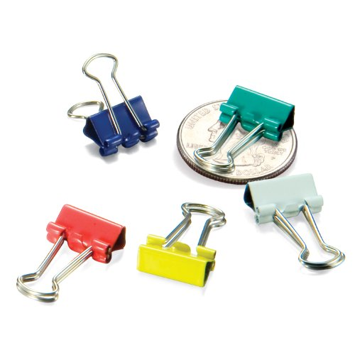 OfficemateOIC Micro Binder Clips, Assorted Colors, 100