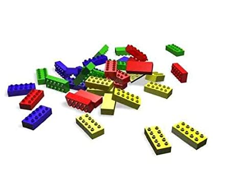 3D Illustration of Lego Blocks - Peel and Stick Wall Decal by Wallmonkeys
