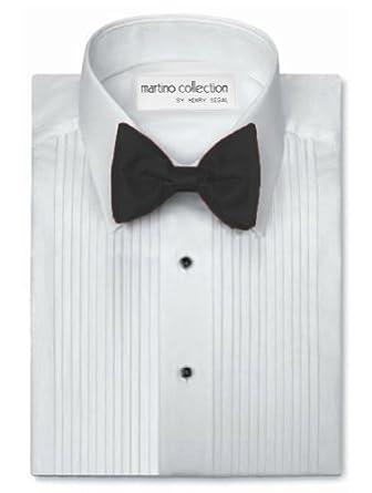 Henry Segal Mens Tuxedo Shirt 1/4 Inch Pleat Laydown Collar (17 - 38/39)