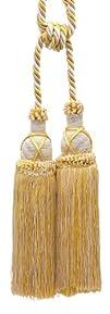 "Beautiful Light Gold, Ivory Curtain & Drapery Tassel Double Tieback / 10"" tassel, 30…"